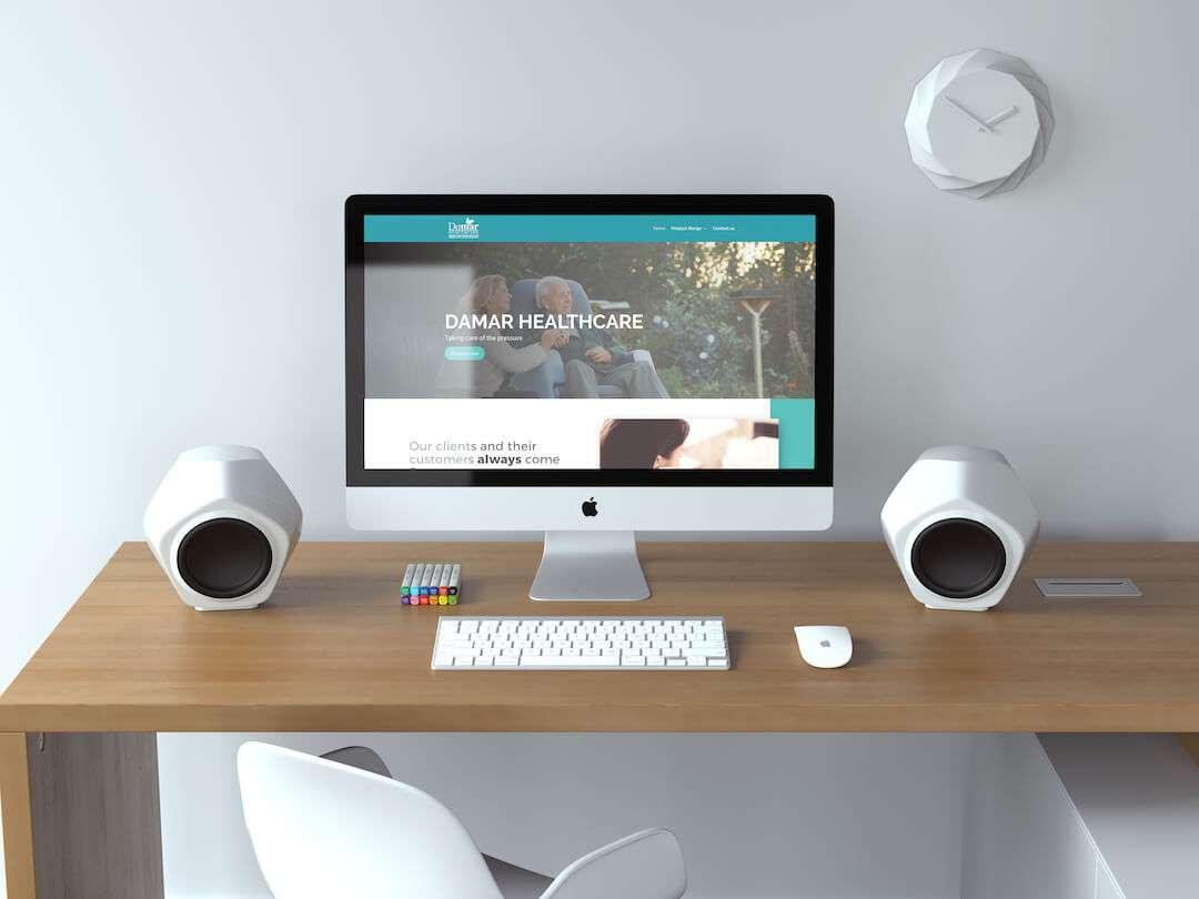 Damar Healthcare Website Design