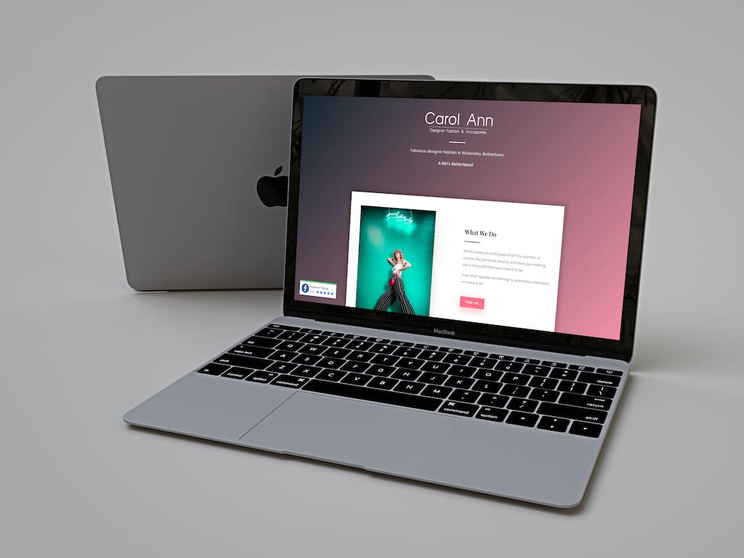 Carol Ann Website Design