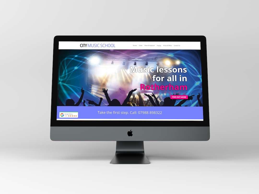 City Music School Website Design