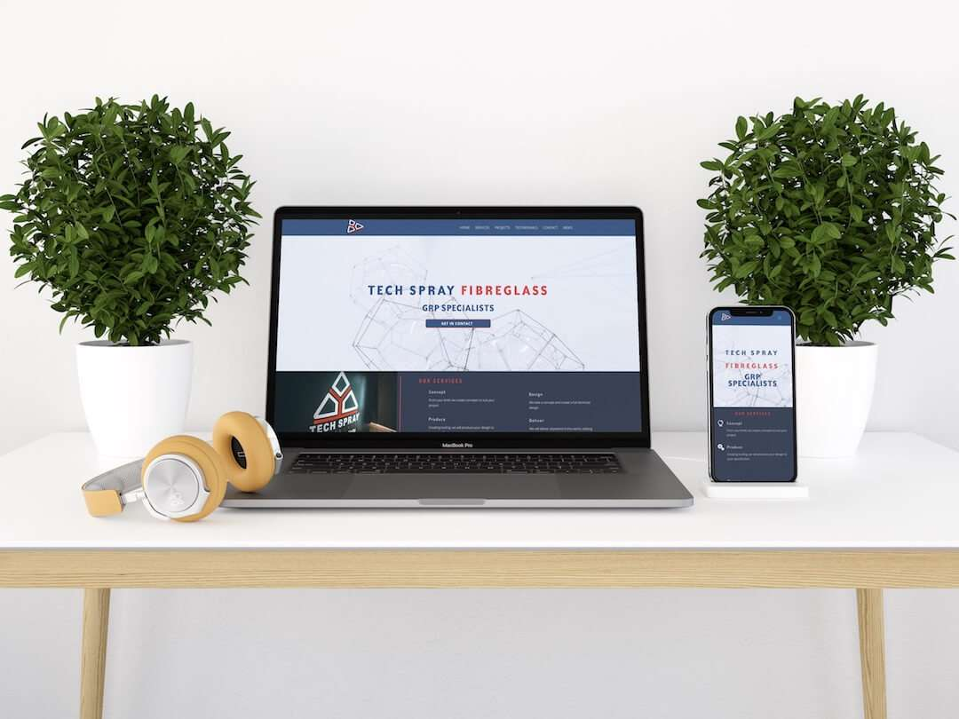 Tech Spray Fibre Glass Website Design