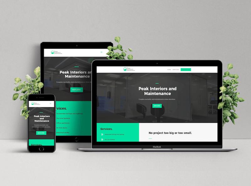Peak Interiors Website Design