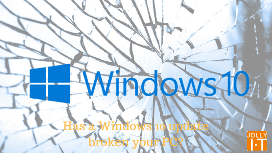 Windows 10 update causing issues